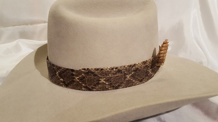 how to make a rattlesnake hat band