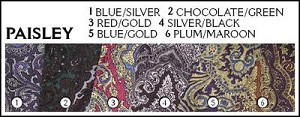 Paisley Scarves - 100% Silk - 34 x 34 inch