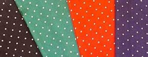 Polka Dot Scarves - 100% Silk - 34 x 34 inch